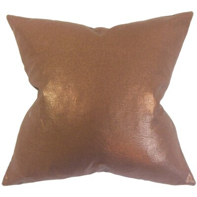 Abra Solid Floor Pillow Color: Amber