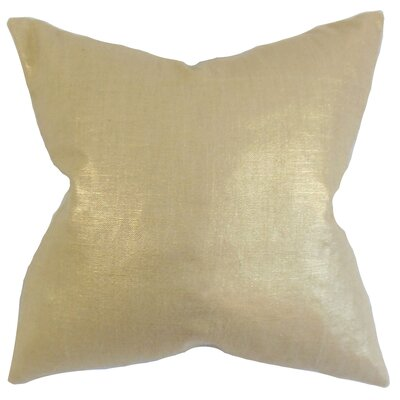 Abra Solid Floor Pillow Color: Caramel