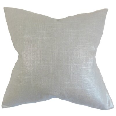 Abra Solid Floor Pillow Color: Platinum