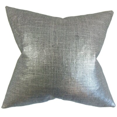 Mahoney Solid Floor Pillow Color: Coal