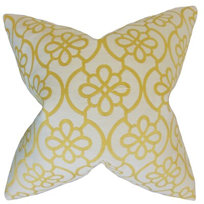 Chaplain Geometric Floor Pillow Color: Banana