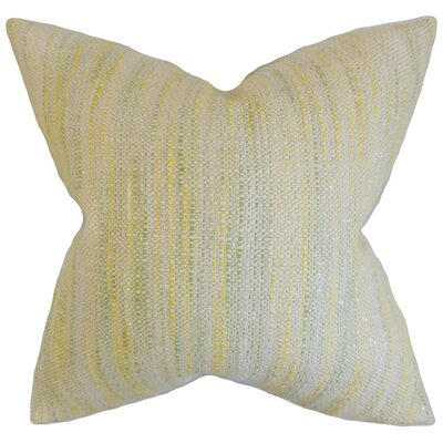 Chrisholm Stripes Floor Pillow Color: Lemon