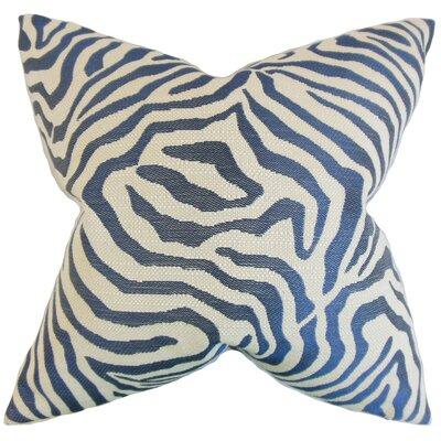 Delrico Zebra Floor Pillow Color: Marine