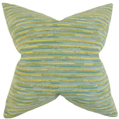 Bunnell Stripes Floor Pillow Color: Sea Glass