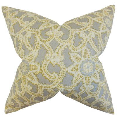 Huckaby Geometric Floor Pillow Color: Gold/Silver