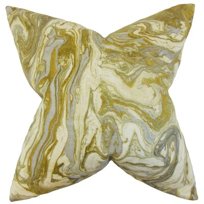 Malia Geometric Floor Pillow Color: Gold/Silver