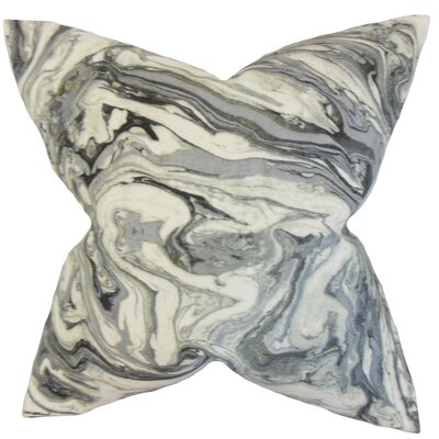Malia Geometric Floor Pillow Color: Gray