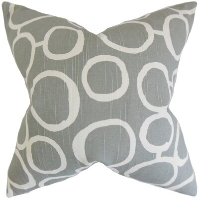 Beltran Geometric Floor Pillow Color: Ash