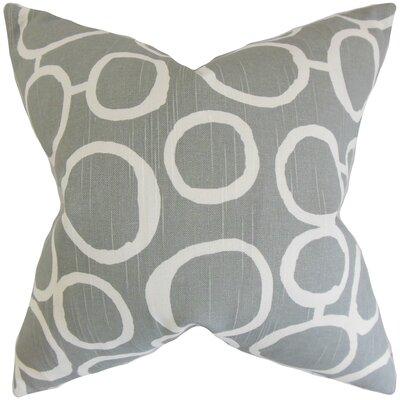 Beltran Geometric Floor Pillow Color: Ash