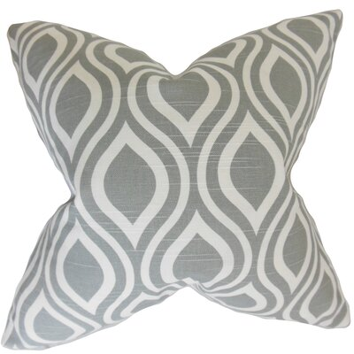 Burdge Geometric Floor Pillow Color: Ash