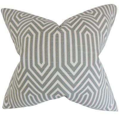 Lapine Geometric Floor Pillow Color: Ash