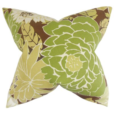 Burwell Floral Floor Pillow Color: Fennel