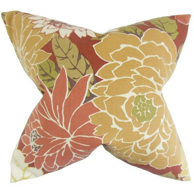 Burwell Floral Floor Pillow Color: Pink