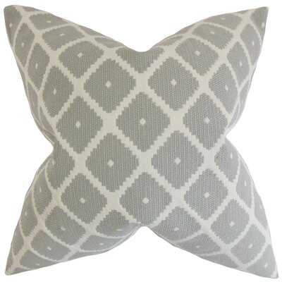 Edgware Geometric Floor Pillow Color: Dove
