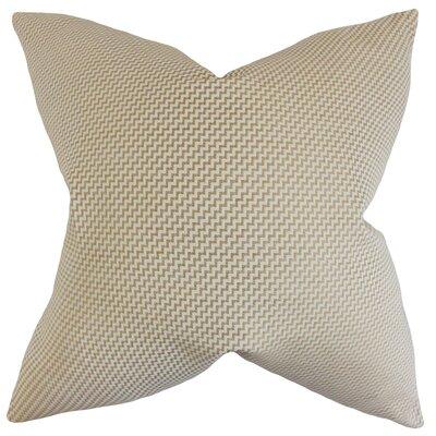 Dionysius Geometric Floor Pillow Color: Sand
