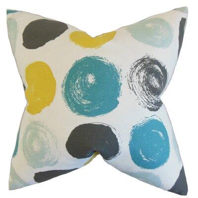 Eggleston Geometric Floor Pillow Color: Blue