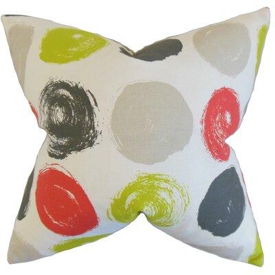 Eggleston Geometric Floor Pillow Color: Poppy
