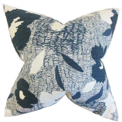 Catrina Geometric Floor Pillow Color: Blue
