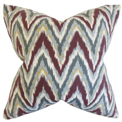 Caterina Zigzag Floor Pillow Color: Currant