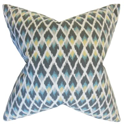 Celis Ikat Floor Pillow Color: Rain