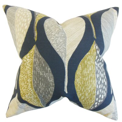 Rodolfo Geometric Floor Pillow Color: Indigo