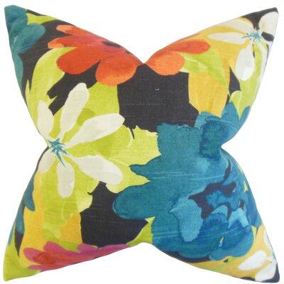 Dunklin Floral Floor Pillow Color: Berry