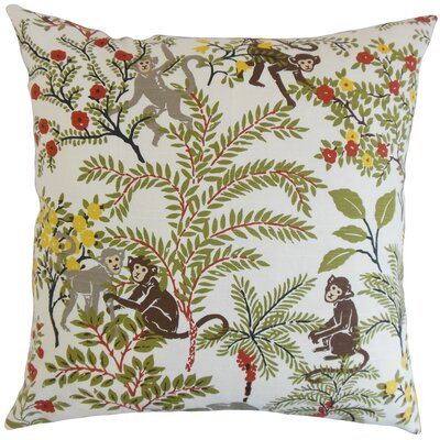 Dorine Foliage Floor Pillow Color: White