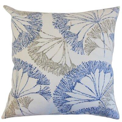Oneil Floral Floor Pillow Color: Blue