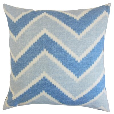 Dwight Zigzag Floor Pillow Color: Indigo