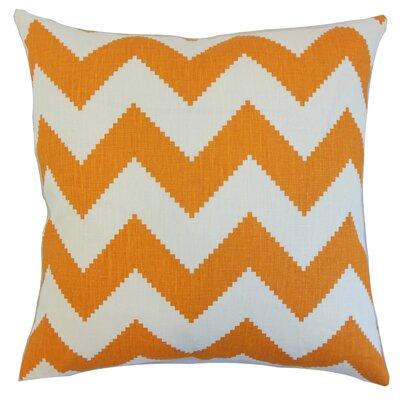 Buntin Zigzag Floor Pillow Color: Persimmon