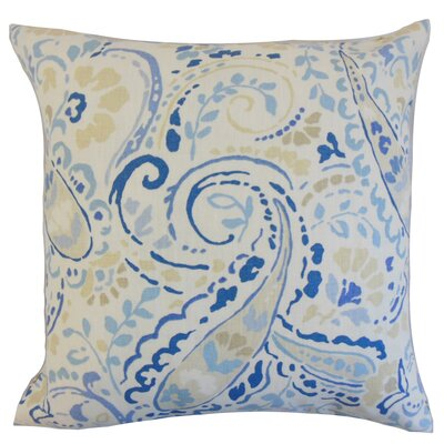 Chance Floral Floor Pillow Color: Ocean