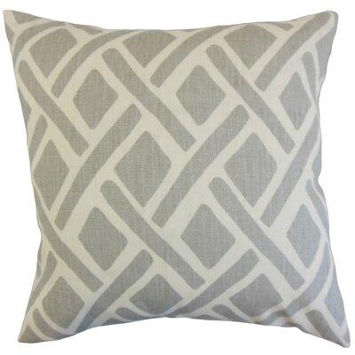Buono Geometric Floor Pillow Color: Asphalt