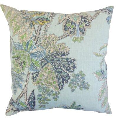 Charmine Floral Floor Pillow Color: Sapphire