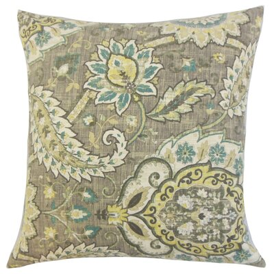 Aloin Floral Floor Pillow Color: Platinum