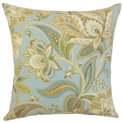 Fulham Floral Floor Pillow Color: Blue