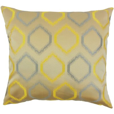 Hudgens Geometric Floor Pillow Color: Yellow