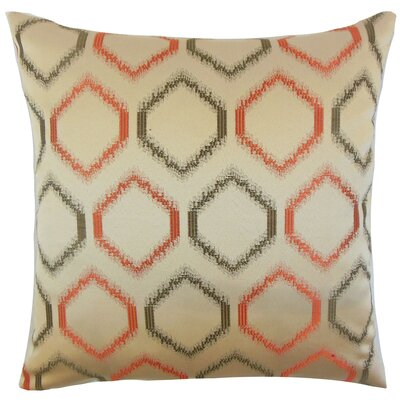 Hudgens Geometric Floor Pillow Color: Orange