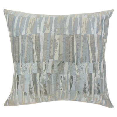 Buscher Stripes Floor Pillow Color: Gray