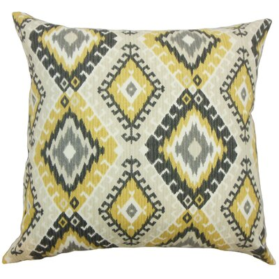 Brinsmead Ikat Floor Pillow Color: Black