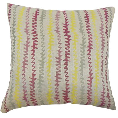 Carlton Zigzag Floor Pillow Color: Freesia