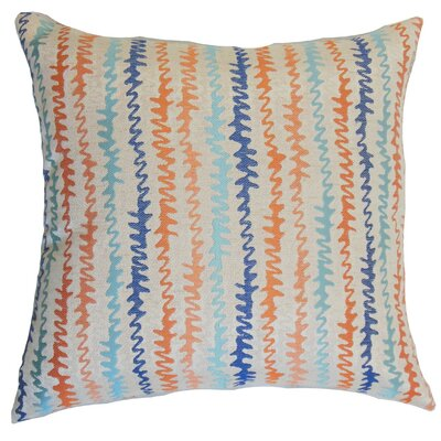 Carlton Zigzag Floor Pillow Color: Harvest