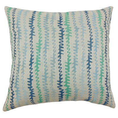 Carlton Zigzag Floor Pillow Color: Turquoise