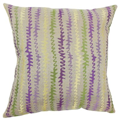 Carlton Zigzag Floor Pillow Color: Orchid