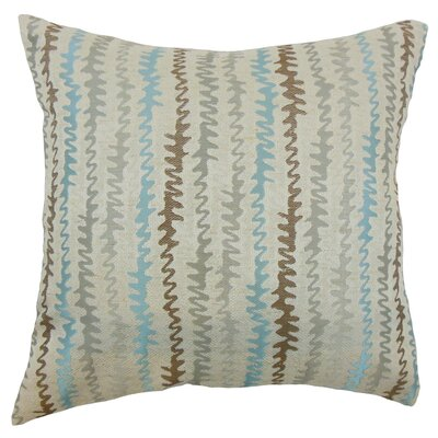 Carlton Zigzag Floor Pillow Color: Placid