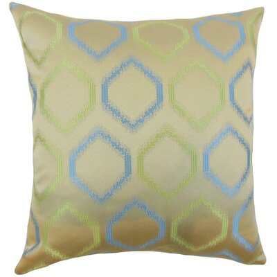 Burbach Geometric Floor Pillow Color: Placid Blue