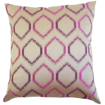 Burbach Geometric Floor Pillow Color: Orchid