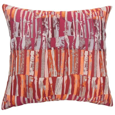 Buscher Stripes Floor Pillow Color: Crimson