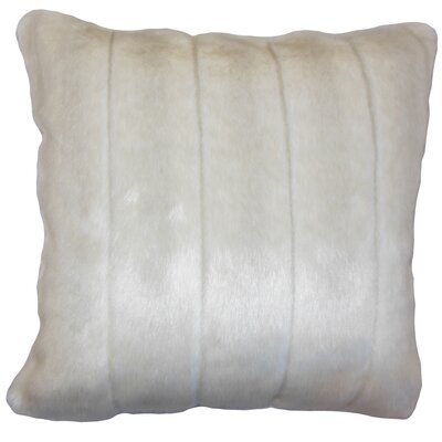 Deloris Traditional Square Floor Pillow Color: Beige
