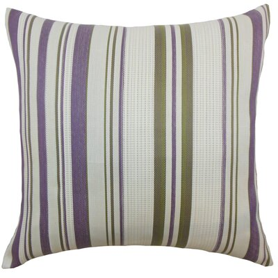 Saxony Stripes Floor Pillow Color: Orchid
