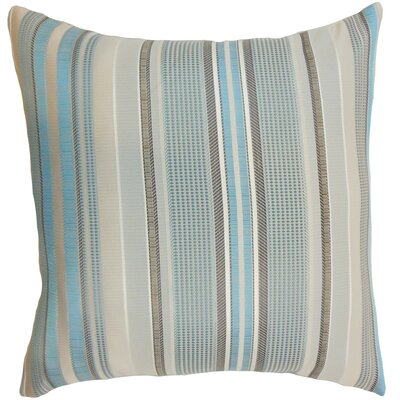 Saxony Stripes Floor Pillow Color: Blue